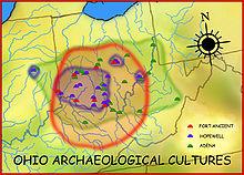 Ohio Arch Cultures map HRoe 2008.jpg