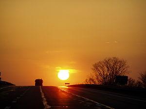 Interstate 80 in Ohio - I-80 westbound Ohio Turnpike