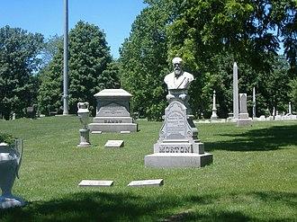 Oliver P. Morton - Morton's grave at Crown Hill Cemetery