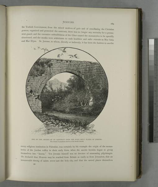 File:One of the arches of an aqueduct over the Wady Kelt, plains of Jericho. The stream is popularly known as Brook Cherith (NYPL b10607452-80363).tiff