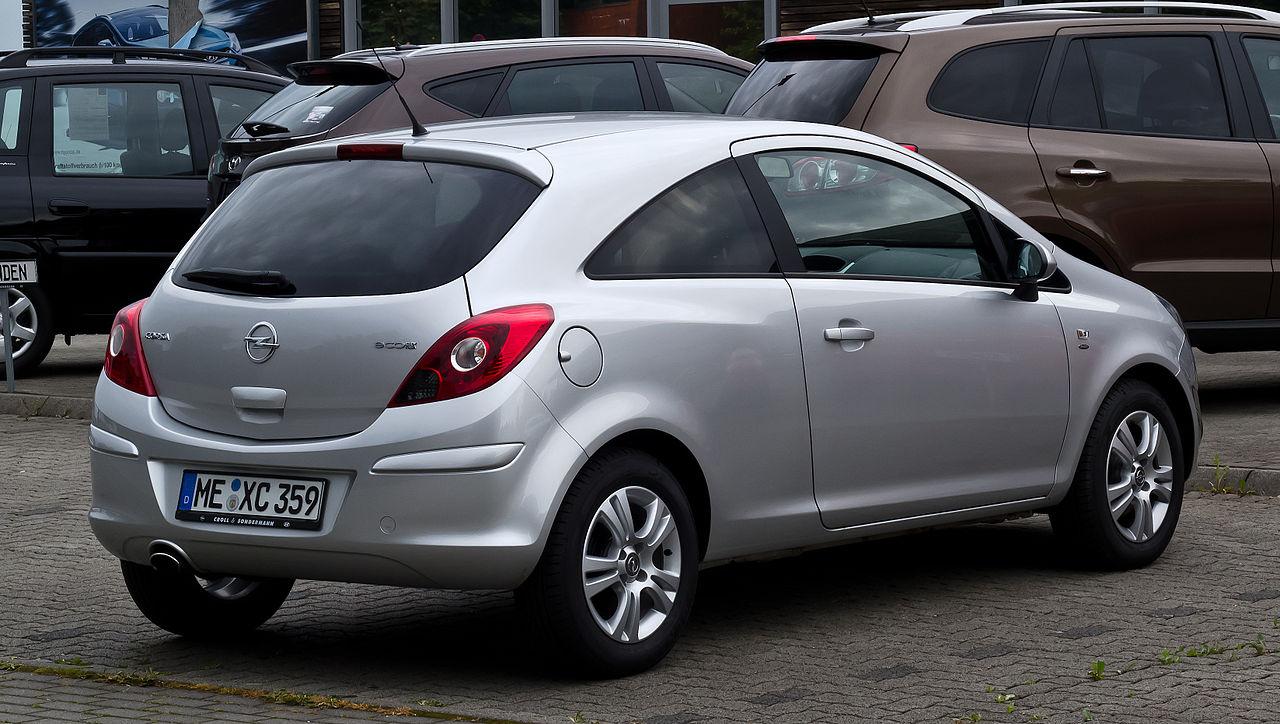 File:Opel Corsa 1.4 ecoFLEX Satellite (D, Facelift) – Heckansicht, 31. Juli 2012, Heiligenhaus ...