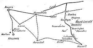 Battle of Buggenhout - Operations of Belgian volunteers in Limburg and Campine, 1914