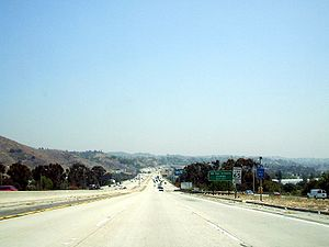 California State Route 57 - Southbound in San Dimas, leaving the Kellogg Hill Interchange