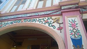 Chinatown, Kuala Terengganu - The decorative façade of one of the shophouses