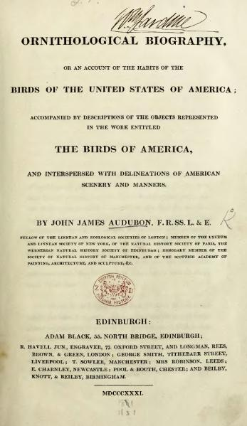 File:Ornithological biography, or an account of the habits of the birds of the United States of America, volume 1.djvu