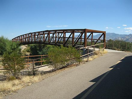Footbridge along the Canada del Oro Trail Oro Valley CDO Trail Bridge.jpg