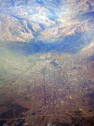 Urmia - An aerial view of Urmia