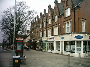 West Park, Leeds - Image: Otley Road shops in West Park