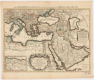 Ottoman Syria - Image: Ottoman Empire 1696 by Jaillot