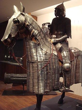 Chevaux bas-romains avec protection - Page 2 340px-Ottoman_Mamluk_horseman_circa_1550