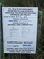 Overhead line project notice - geograph.org.uk - 588361.jpg
