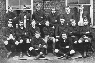 Paul Clauss - The Oxford team of 1891, Clauss sat centre on bench