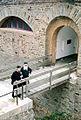 Père Séraphin et père Cassien devant le monastère de Ste Marie (8535817804).jpg