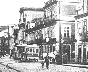 Praça do Almada - Around 1880, Praça do Almada was a stop for streetcars.