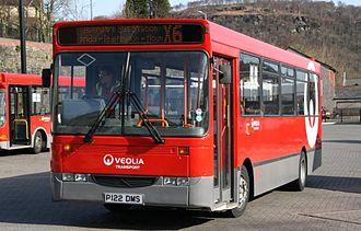 Alexander Dash - Alexander Dash bodied Dennis Dart with a horizontal windscreen with Veolia Transport in Pontypridd.