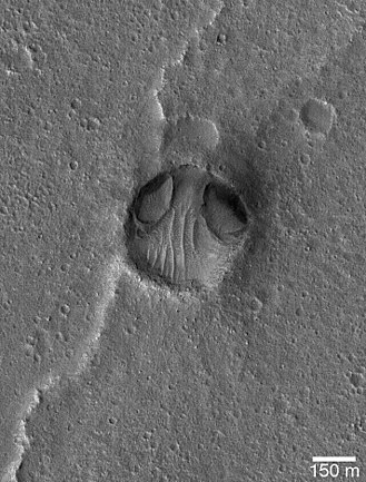 Chryse Alien - The Chryse Alien, a crater in the Chryse Planitia