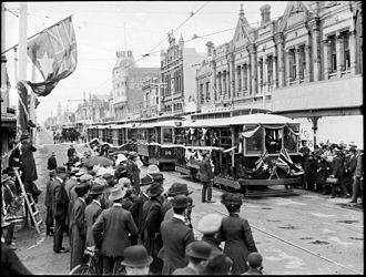 Timeline of trams in Melbourne - The PMTT opened the Dandenong Road line on 16 December 1911