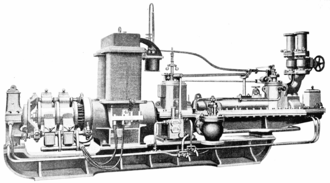 Electrification - An 1899 Parsons steam turbine linked directly to a dynamo