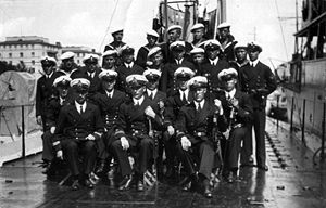 Finnish submarine Vesihiisi - First crew of the submarine Vesihiisi, 1931.