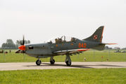 Polish turboprop, single engine, two seat trainer PZL-130 Orlik TC-I of Orlik Aerobatic Team