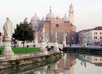 The Basilica of Santa Giustina as seen from th...