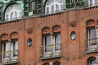 Palace Hotel (Copenhagen) - Facade detail