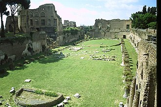 """Palace of Domitian - Garden or """"stadium"""" of the Palace of Domitian"""