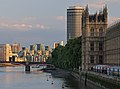 Palace of Westminster, Millbank Tower, Lambert Bridge and Vauxhall riverside. London, UK.jpg
