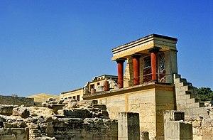 El palacio de Cnosos.