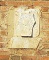 Palazzo vicariale di certaldo, facciata, stemma tornabuoni.JPG