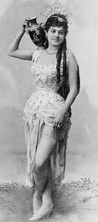 Les cloches de Corneville - Ilka Pálmay as Serpolette, Berlin 1883, misidentified as Rip van Winkle