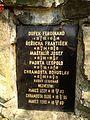 Paměťní deska u památníku padlých za I. světové války v bývalé obci Skryje.jpg