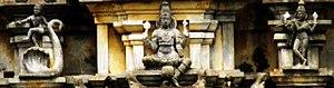 Pandava Thoothar Perumal Temple - Stucco images on the Gopuram of the temple