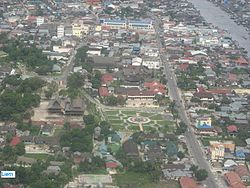 An aerial view of Pangkalan Bun
