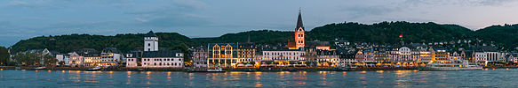 Panoramic view of Boppard at dusk 20150513 1.jpg