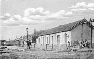 Buenos Aires and Rosario Railway - Belgrano R station, 1900.