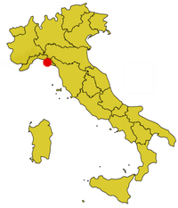Map showing the location of Cinque Terre National Park