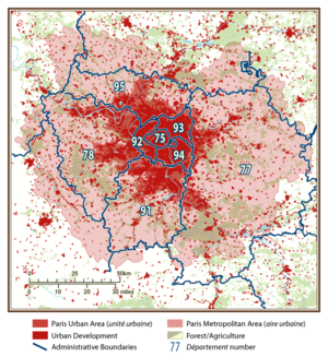 Statistical demographics plan of Paris and the...