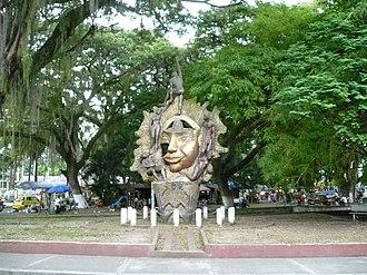 Cartago, Valle del Cauca -  Monument to the Sun, La Isleta Park.
