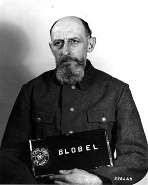 Paul Blobel, former commanding officer of sond...