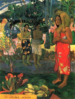 "256px-Paul_Gauguin_071 Bildanalyse ""Ia Orana Maria"" von Paul Gauguin"