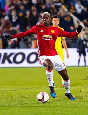 Paul Pogba - Pogba playing for Manchester United in 2017