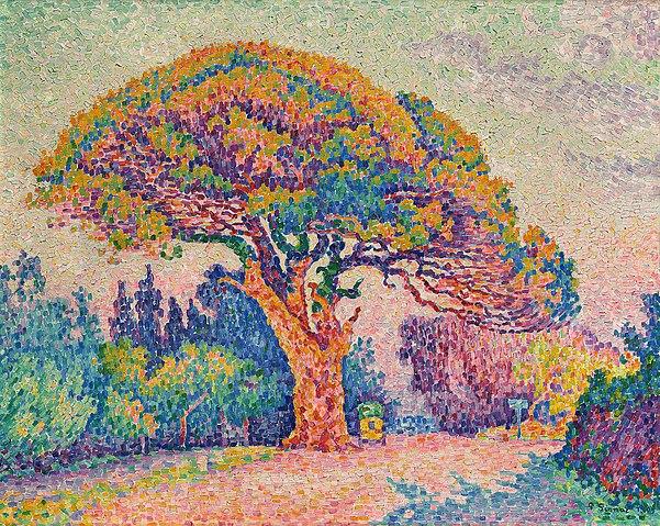 Superbe File:Paul Signac, 1909, The Pine Tree at Saint Tropez, oil on &IM_62