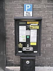 Pay and display ticket machine, Bristol City centre