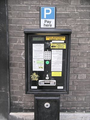 Pay and display - Metric Accent Pay and display ticket machine, Bristol City centre