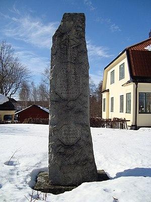 Battle of Brunnbäck Ferry - Image: Peder Svensson stenen