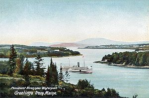 Penobscot River - View near Winterport about 1906