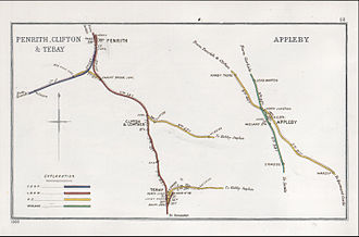 Penrith railway station - A 1903 Railway Clearing House map of railways in the vicinity of Penrith