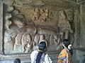 People seeing vishnu sculpture at Mahabalipuram.jpg