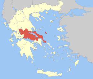 Locator Map of Sterea Ellada Periphery, Greece